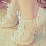 <3Lace Weddings, Lace Heels, Wedding Shoes, Vintage Lace, Lace Shoes, White Lace, High Heels, Lace Booty, Boots
