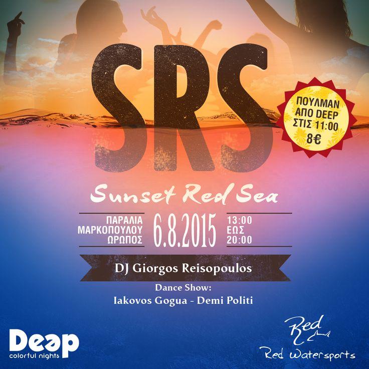 Το Deep πάει παραλία! H ομάδα του Deep Inside Club και του Animals Party πάει Παραλία και σε συνεργασία με το Red Watersports παρουσιάζει το: Sunset.Red.Party Είμαστε έτοιμοι να ξεχυθούμε στην παραλία με την πιο δυνατή μουσική και ένα Dance Show που θα ανεβάσει τη θερμοκρασία επιτάσσοντας συχνές δροσερές βουτιές..! 'Ολη μας η τρέλα αποτυπωμένη στο πιο υπέροχο Noon till Sunset Beach πάρτυ αυτού του καλοκαιριού, το Sunset Red Sea! Cu by the Sea! #DeepRed #BeachParty