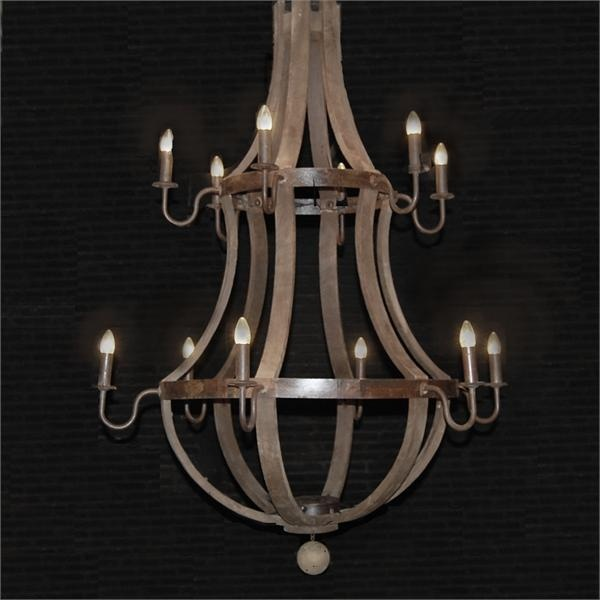 Wine barrel chandelier...12 lights & 229 best Lighting images on Pinterest | Light fixtures ... azcodes.com