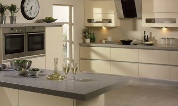 Bella Gloss Cream Kitchen Doors By BA Components.