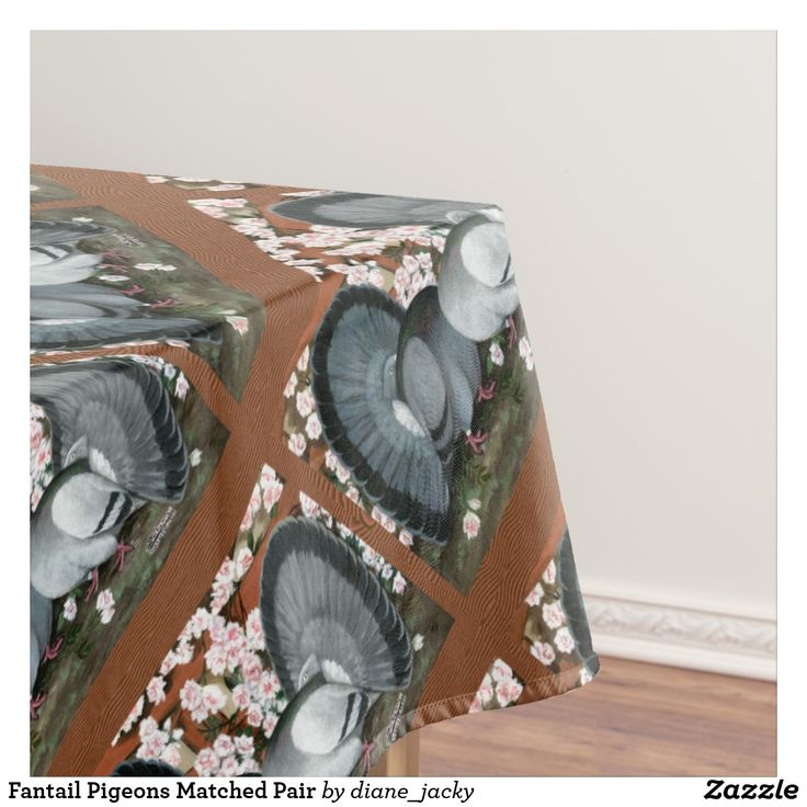 Fantail Pigeons Matched Pair Tablecloth
