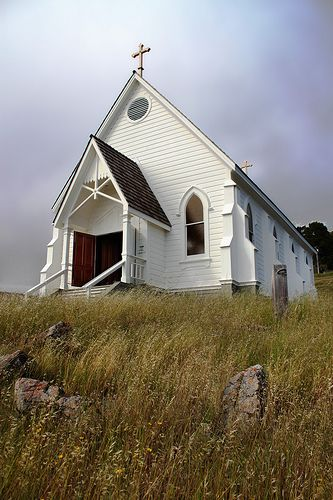 Old St. Hilary's, Tiburow, CA built for local Railroad workers 1888; Carpenter Gothic style building | by skipmoore