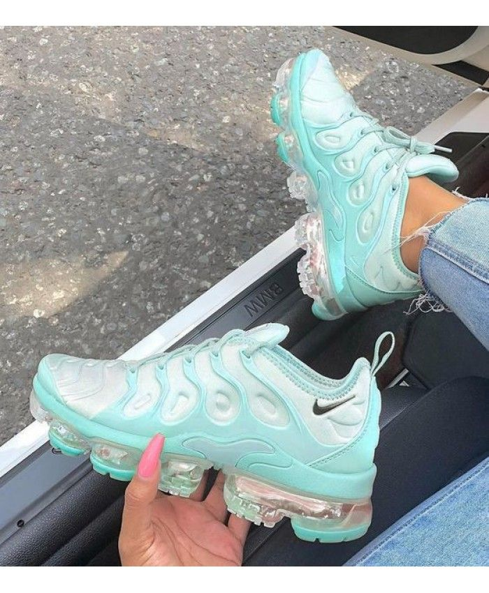 good texture superior quality beauty Hot Vapormax Plus Womens Aqua Blue Aqua Blue White in 2019 ...
