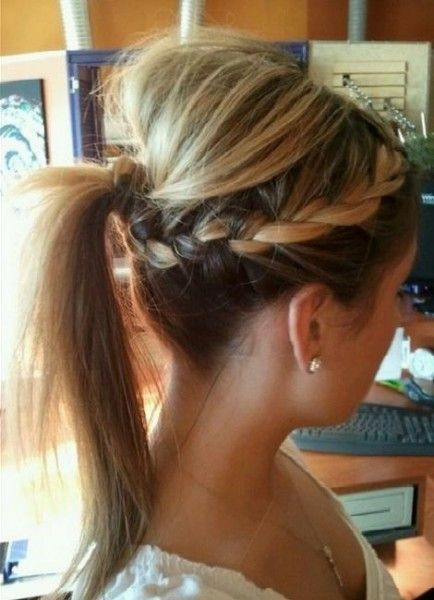 Two Side Braids With a Ponytail - Wedding Stuff