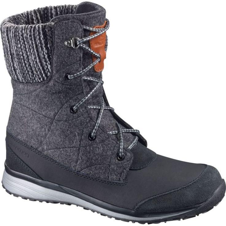 Salomon Women's Hime Mid Winter Boots, Asphalt Grey