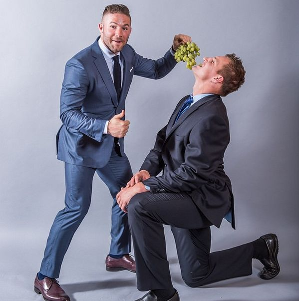Julian Edelman and Gronk lol www,talk-sports.net