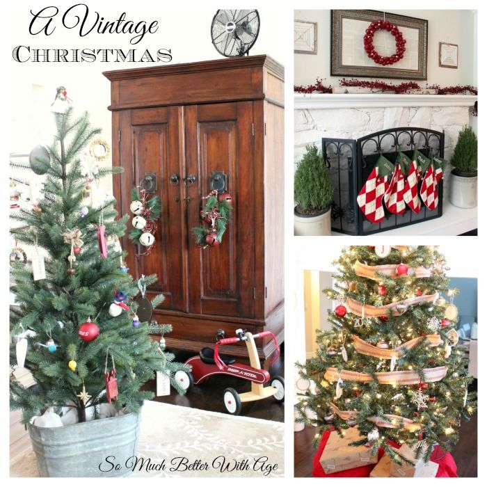 Christmas Mantel and Tree Tour, An Evening Tour   So Much Better With Age