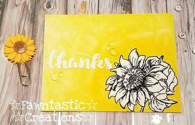 ☆ Fawntastic Creations ☆  strawberry jude sunflower thank you card