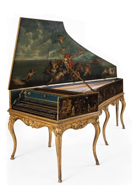 Via Springpad; Sound Sample included Harpsichord Creator: Baillon, Luigi A rare example of a French harpsichord made outside Paris. The case decoration is stunning The outer case is elaborately decorated with chinoiserie scenes, and there is a seascape in the lid depicting Venus and Neptune.1755 Rights:Edinburgh University Collection of Historic Musical Instruments via Europeana License: Creative Commons Attribution-ShareAlike 3.0 Unported LicenseCreative Commons License