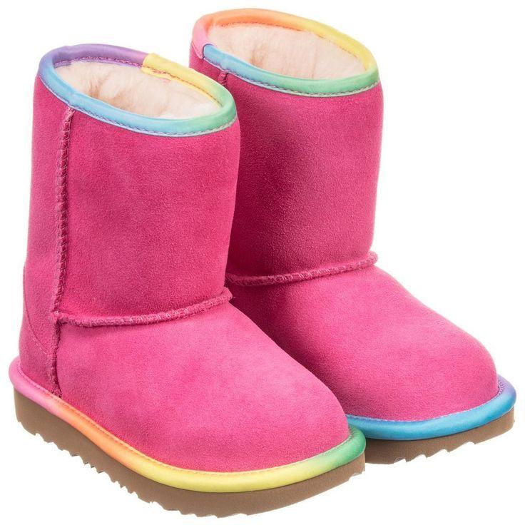 UGG AUSTRALIA Rainbow 'Classic Short' Toddler Boots size 6-10 #UGGAustralia #Boots