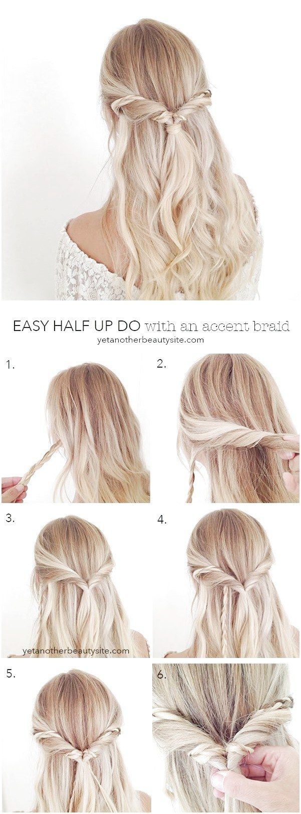 Pin on Easy hair updos
