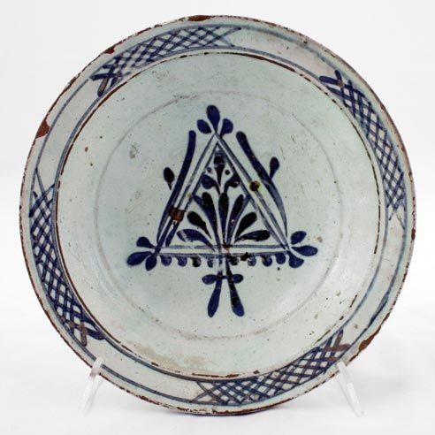 DISH  Late 18th century h.: 6 cm d.(base): 6.8 cm d.(rim): 23.6 cm