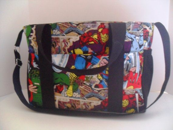 Extra Large Diaper bag Made of Marvel / Avengers by fromnancy, $99.00