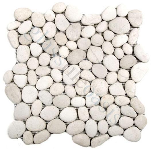 Creative Decore River Rock Tiles Pebbles Stones White Stone Tumbled