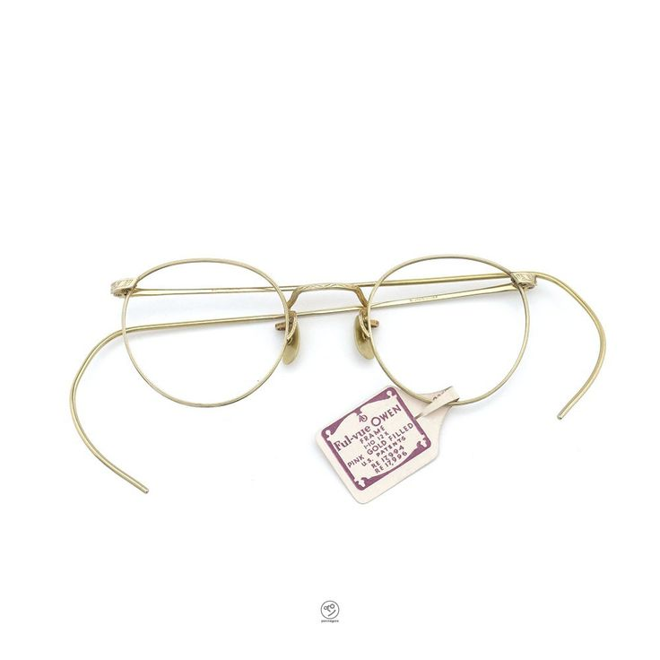 [Vintage] American Optical Ful-vue OWEN PINK GOLD FILLED 1/10 12KGF    PonMegane