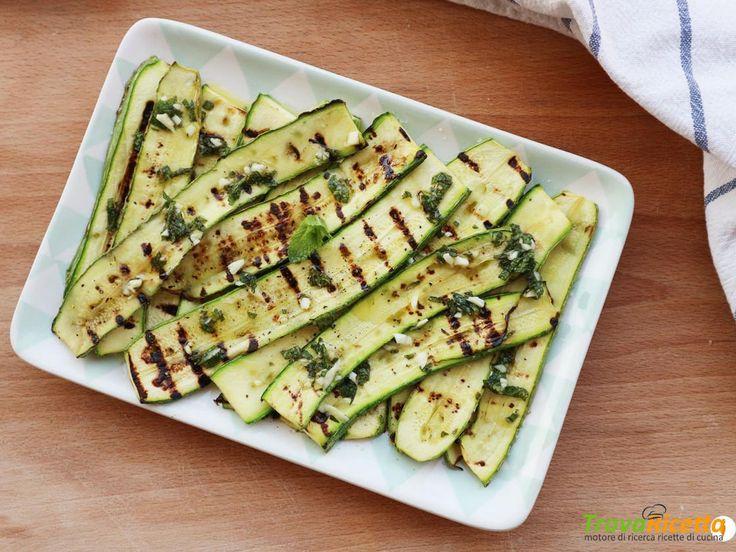 Zucchine grigliate aglio e menta  #ricette #food #recipes