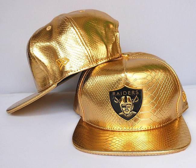 19d3ed15 NFL Adjustable Hats Oakland Raiders All Leather Black Snapback Hats ...