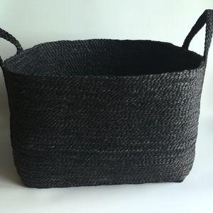Saba Jute Basket - Charcoal