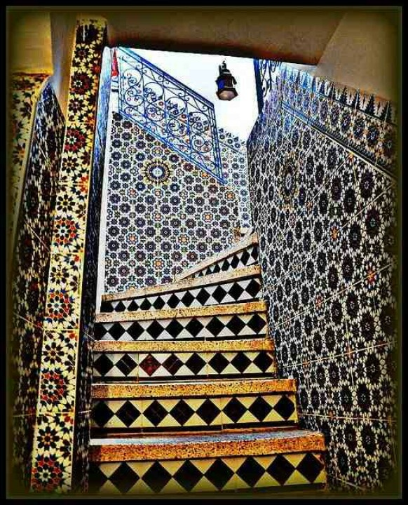 Morocco stairway