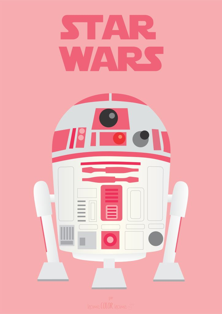poster r2d2 pink