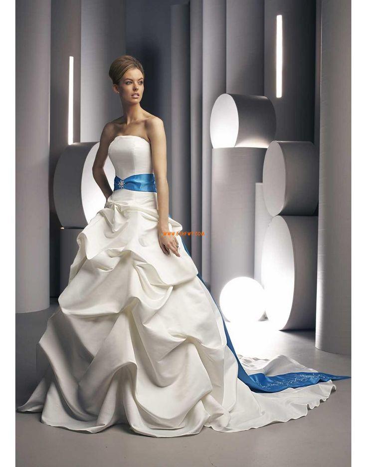 Chapel Train Satin Glamorous & Dramatic Wedding Dresses 2014