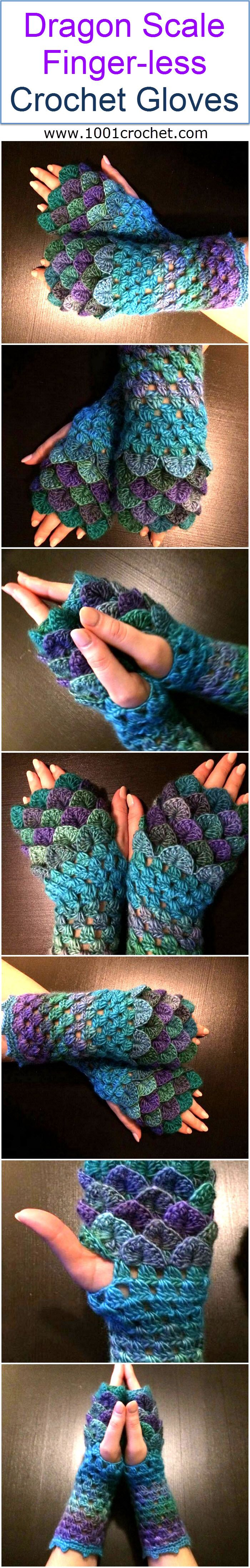 If you too are willing to look a bit different and want to grab the attention then trust me you have to try these weird yet sexy crocheted gloves along with some very creepy outfit. They are not only named as dragon scale gloves but they really look like the one.