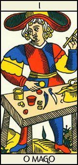 O mago: O arcano I do Tarot representa o início, a tendência a começar e a não terminar, uma boa imagem pessoal, esperteza e domínio daquilo que faz ou diz.