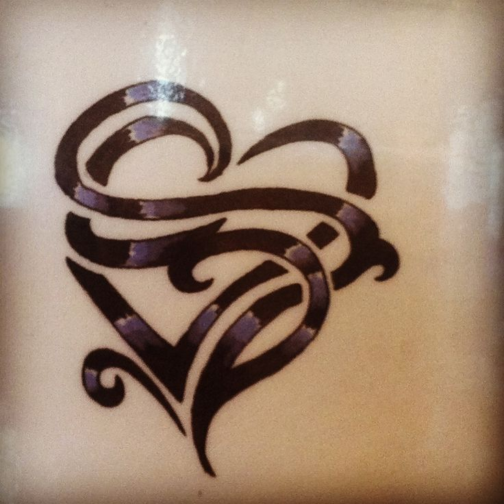 "Heart tattoo with the letter ""R"" and ""L"". I don't really ..."