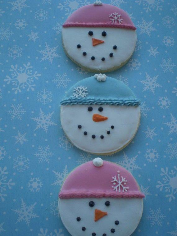Snowmen sugar cookies