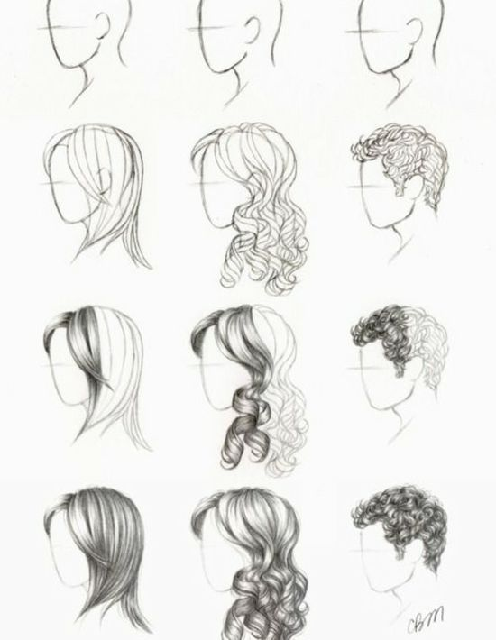 How To Draw Hair- Yes Please!!! :) More Hair Drawing Stuff.  #drawhair #drawinghair #drawing