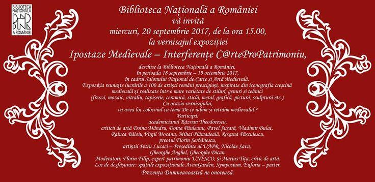 Articol din 16 septembrie,  Biblioteca Naţională a României: Salonul Naţional de Artă Medievală 2017