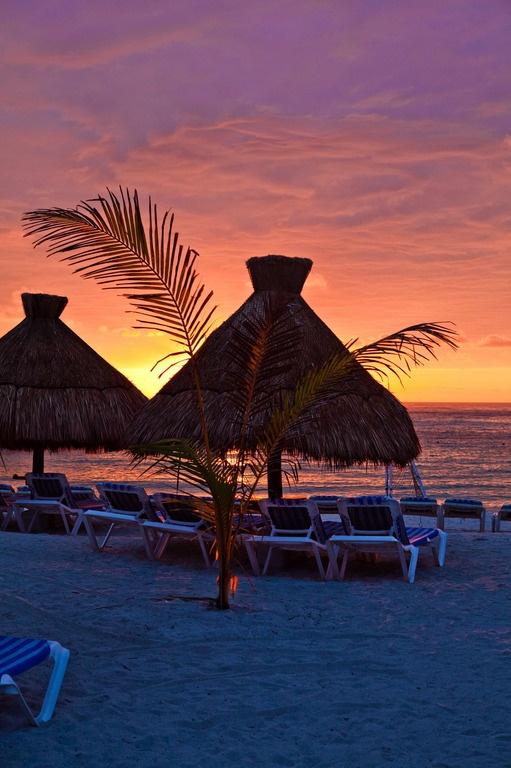 Sunrise on the beach, Grand Sirenis Mayan Beach Hotel & Spa on the Riviera Maya - where we spent our honeymoon :)
