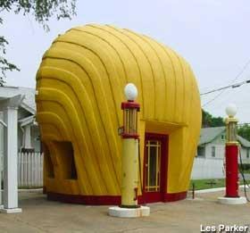 Shell Shaped Gas Station   Winston-Salem, North Carolina