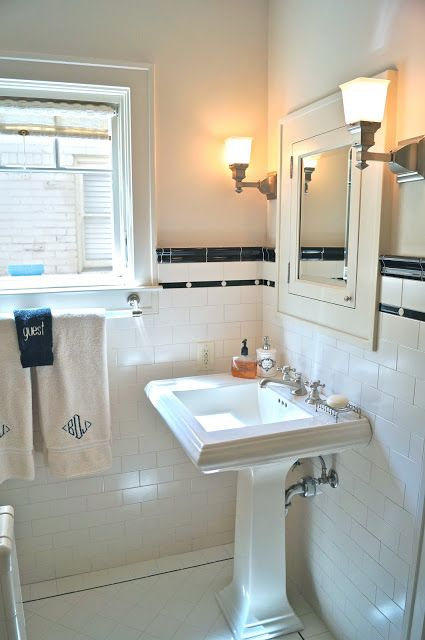 vintage subway tile bathrooms - Google Search