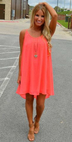 There's nothing like looking sexy in this Summer Dress, choose from various neon colors   Wear it for a day, on the beach or on the deck of a cruise ship. Use it as a bathing suit cover up.