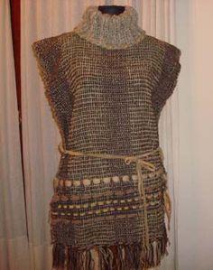 prendas urbanas en telar, tejidos, dos agujas, crochet