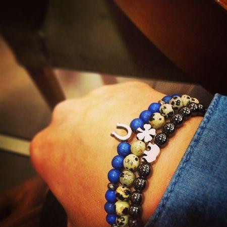 Good Luck Üçlü Şans bilekliği seti,  #erkek #bileklik #mrfancy #doğaltaş #men #accessories #jewelry #bracelet #armparty #armcandy #wristgame #wristparty #takı #style #dapper #blue #grey #mavi #gri #hematit