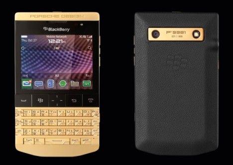 Gold BlackBerry P9981 by Porsche Design #luxury