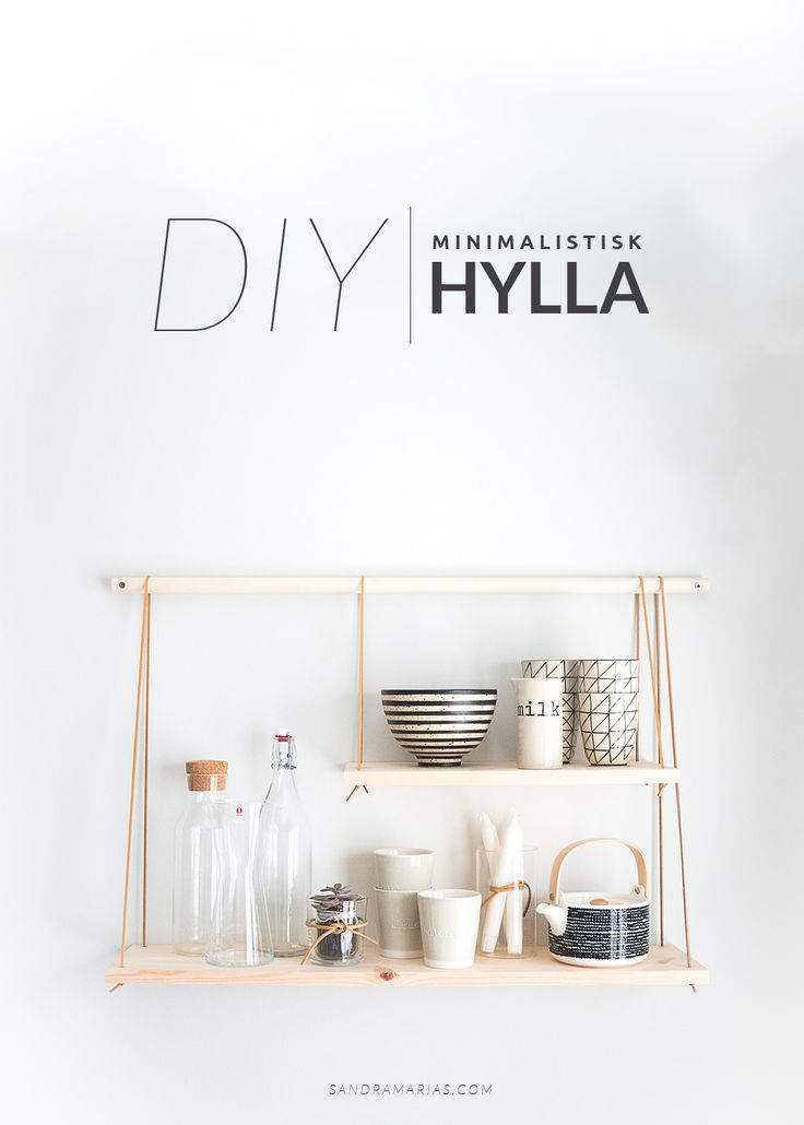DIY minimal scandinavian shelving | Scandinavian kitchen | interior | Sandramarias.com