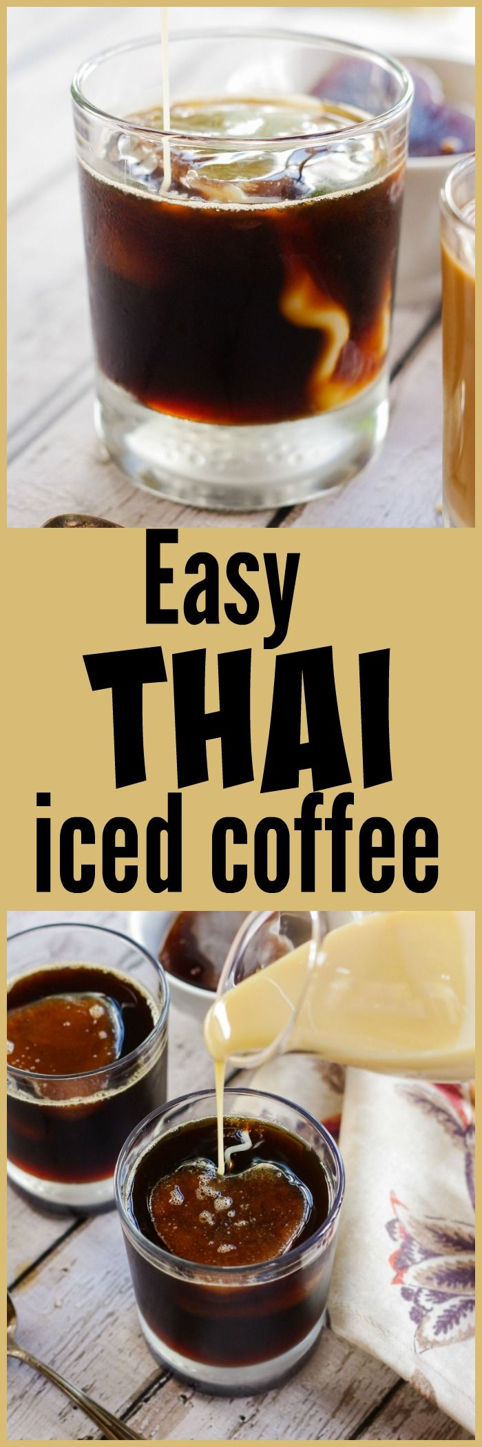 Easy Thai Iced Coffee | www.homeandplate.com | Become your own barista with this…