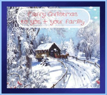 Free Animated Christmas pictures | merry christmas to you your family snow scene animated christmas card ...