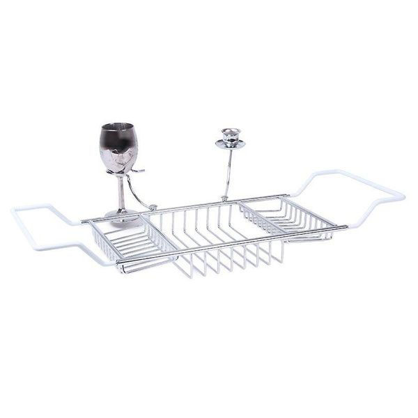 Bathtub Caddy with Candle Holder and Wine Glass Holder   Overstock com  Shopping   The. 17 Best ideas about Bathtub Wine Glass Holder on Pinterest