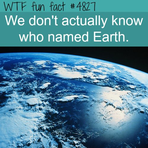 WHOA! ...Who FIRST called it Earth? ...Hmmm! ~WTF weird & interesting facts! Let's see.. GOD. Really people?