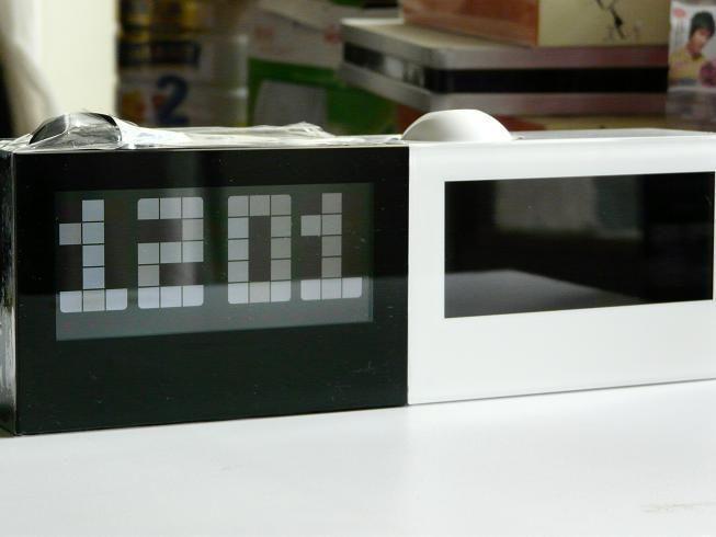 geleid wekker projectie klok muziek alarm klok mode klok alarum groot scherm