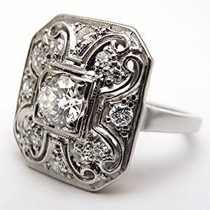 I wonder what kind of wedding band would go with this ring?