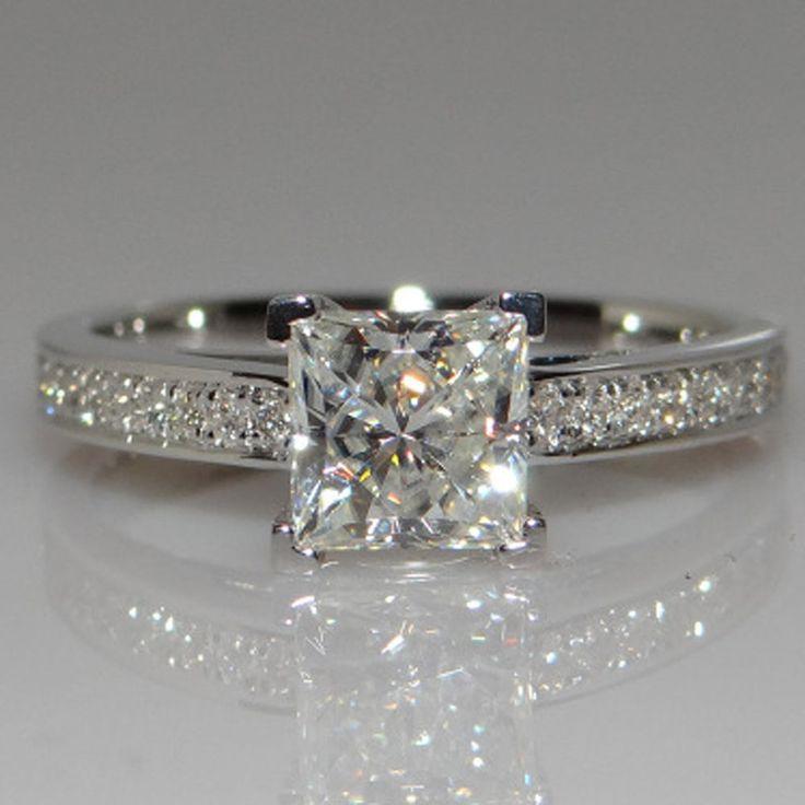 Wedding Bride Zircon Rhinestone Crystal Ring Engagement Women Jewelry Size 5-10 #Unbranded