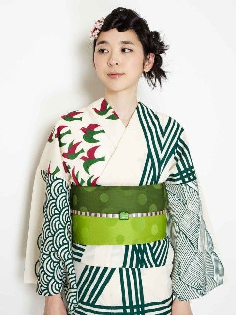"tanuki-kimono: """"Sea woman"" yukata by Furifu """