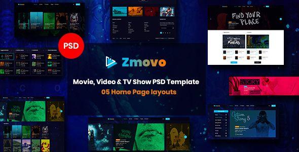 Zmovo Online Movie Video Tv Show Psd Template Movie Video Zmovo Online Psd Templates Templates Movies Online