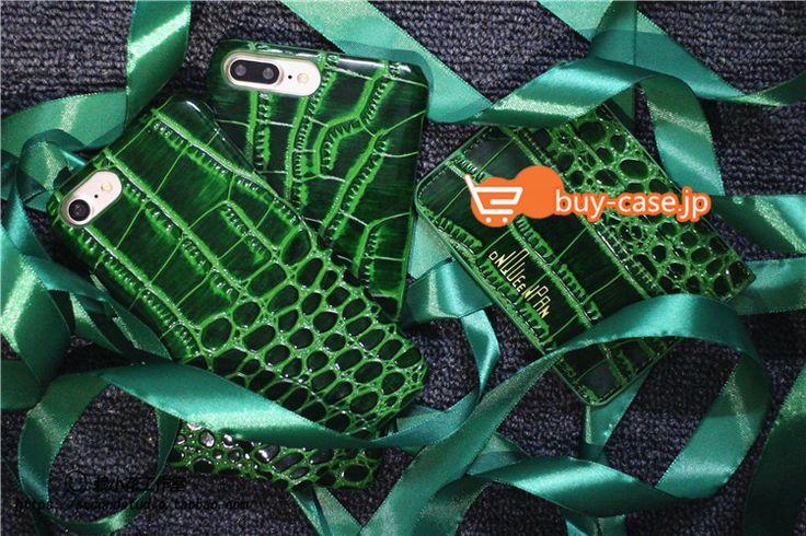 スマホケース ブランド風Dnqueenゴージャス エメラルド緑色アイフォン7plusワニ鰐柄iPhone6plus本革ハードケース携帯カバー