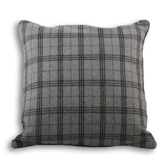 Lomond Tartan and Natural Cushion Cover